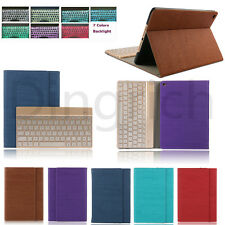 Hot Leather Case For Apple iPad, Samsung & 7 Color Backlight Bluetooth keyboard