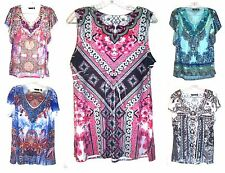 Size S - Plus Size 2X - NWT$36-$44 Apt. 9 Paisley Floral Tops w/Jeweled Accents