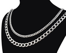 """Cool Men Jewelry 316L Stainless Steel Necklace Chain Link 3-7mm Length 8.7""""- 22"""""""