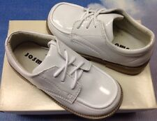Josmo Boys White Patent Moctoe Lace Oxford Dress Shoes Toddler Size 5 to 10
