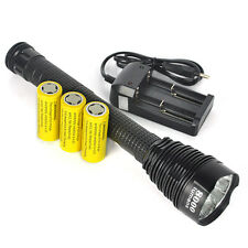 Power 8000Lm 7xXM-L T6 LED Flashlight Aluminum Torch 5Mode Hunting Light+Holster
