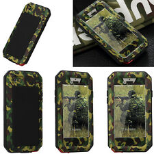 Camouflage Waterproof Aluminum Metal Gorilla Glass Case Cover For Apple iPhone