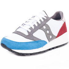 Saucony Jazz '91 Mens Suede & Mesh White Red Blue Trainers