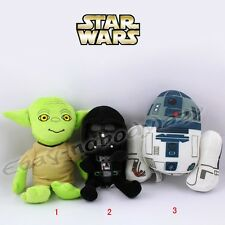 "Star Wars Darth Vader/Yoda/R2-D2 Robot 20cm/8"" Soft Stuffed Plush Doll Toy S New"