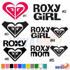 ROXY GIRL, ROXY MOM ROXY HART, VINYL CUT STICKER, DECAL, SURFING