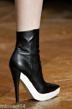 Stella McCartney Runway Ankle Boots Black White New BNIB 4 4.5 6 37 37.5 39 £670
