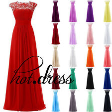 New STOCK Long Formal Prom Party Ball Gown Wedding Bridesmaid Evening Dress 6-18