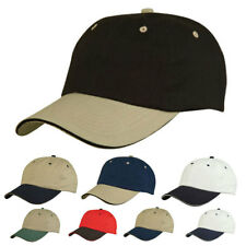 Light Weight Brushed Sandwich Cotton 6 Panel Low Crown Baseball Hat Hats Cap