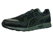 Puma RS 100 Glow Fish Mens Leather Sneakers / Shoes - Black 7801