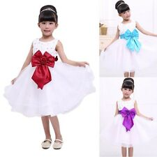 Princess Toddler Baby Party Pageant Girl Wedding Bowknot Tutu Dress Skirts S33