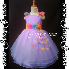 #RBP9 Flower Girl Wedding Bridesmaid Birthday Night Prom Party Summer Sun Dress