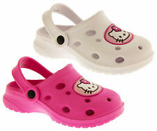 Girls HELLO KITTY Holiday Sandals Kids Slip On Summer Clogs Size 7 8 9 10 11 12