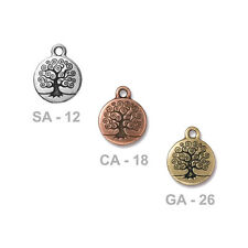TierraCast 19mm Tree Of Life Charm - choose from 3 colors - nature spiritual zen