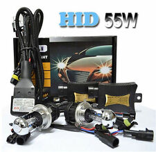 55W HID Xenon Conversion Headlight KIT H1 H3 H4-3 Hi/Lo H7 H9 H11 9005 9004/7H13