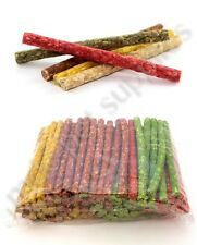 "MUNCHY STICKS - Premium Pet Rawhide Roll Dog Food Treat Assorted 5"" Chew Raw mdc"