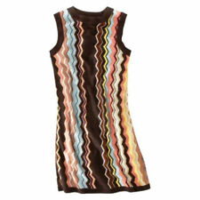 NEW! Authentic Missoni Knit Sweater Dress - Fully lined Colore Brown/Blue/Gold