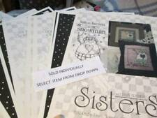 Sisters & Best Friends Cross Stitch/Applique CHART/Pattern Your Choice