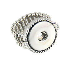 Wholesale Lots strech Adjustable Ring Fit 18mm Snaps Buttons size free SR18-4
