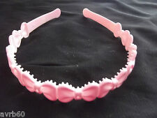 aliceband girls plastic hairband with bow design new choice of colour