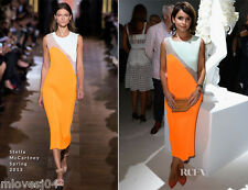 Stella McCartney Sheer Panel Orange Runway Dress BNWT UK 10 12 IT 40 42 £2165