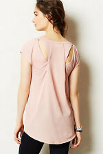 Anthropologie Shimmerwing Top Size LP, Light Pink Cutout Blouse By Deletta