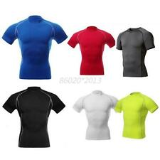 Men Under Skin Short Sleeve Trainning Fitness Sports Gear Base Layer Tops Tight