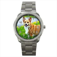 Pembroke Welsh Corgi Stainless Steel Watches - Dog