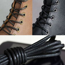 2/4PCS Waxed Round Shoe Laces Shoelace Bootlaces Leather Brogues multi color USF