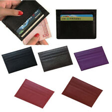Wallet slim money clip credit card holder ID business mens PU leather