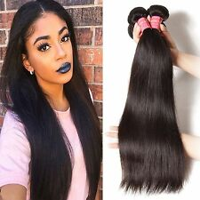 3 Bundle Unprocessed Indian Virgin Human Remy Hair Extension Straight Weave Weft
