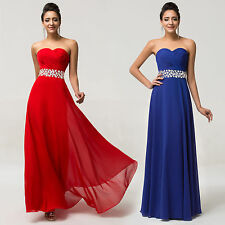 Pageant Strapless Prom Dress Long Formal Wedding Party Bridesmaid Evening Gown