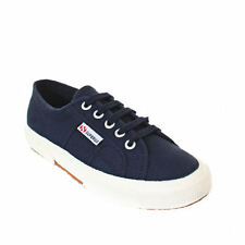 Womens Supergra Classic Lace Up Plimsoll Navy Trainers Laides Shoes Shu Size