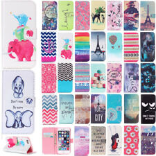 Magnetic Flip Wallet Stand Phone Case for iPhone Protective Patterned PU Cover