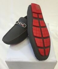MEN GIOVANNI DRESS SHOES Loafer Casual Italian Slip-On GREY RED Stitch NEW PROM