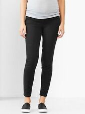 GAP MATERNITY DEMI PANEL SUPER SKINNY PANTS KHAKIS (black)