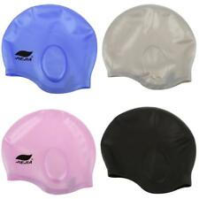 Silicone Unisex Adult Waterproof Swimming Cap Swim Pool Bath Cap Hat - 4 Colors