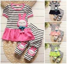 Baby clothes baby kids girl summer clothes 2-piece cotton T shirt & pants rabbit