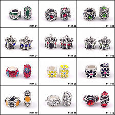 bracelet 10/20/50/100pcs Big Hole European Charms Zinc Alloy Beads For Bracelets