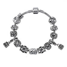 Tibetan Bracelet Silver plated Beads Bracelet for lady's Gift DIY Jewelry #025