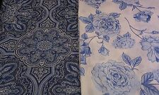 NEW-60 Inches Wide-100% Cotton Fabric-Vintage Blue and White Designs
