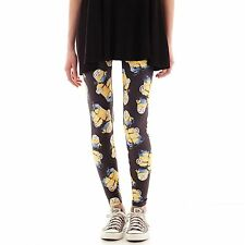 Minion Leggings Black Juniors Size XS New Msrp $26.00