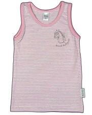 "BONDI ""Brilliant Pony"" girls top t-shirt vest stripe lace (rose/gray) NEW"