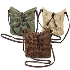 Medium Womens Weave Woven Shouder Messenger Tote Bags Ladies Hobo Crossbody