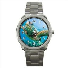 Green Sea Turtle Stainless Steel Watch