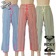 QUIKSILVER ROXY 'SUNSHINE STATE' TROUSERS 3/4 CAPRI 10 12 14 SURF BNWT RRP £48