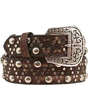 Ariat Women's Studs And Brads Leather Belt