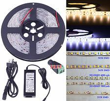 5630 5050 3528 3014 SMD 5M 300 600Led Flexible LED Strip Light Waterproof 12V AU