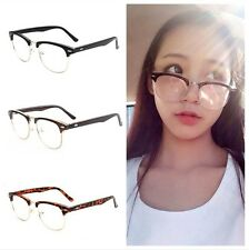 Fashion Vintage Retro Half Frame Lens Clear Glasses Nerd Geek Eyewear Eyeglasses