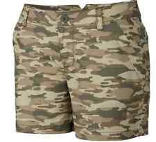 "COLUMBIA Women's Camo Shorts sizes 10 12 14 16 Kenzie Cove Twill Chino 6"" Inseam"