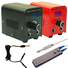 LCD Digital Tattoo Power Supply Kit w/ Clip Cord & Flat Foot Pedal